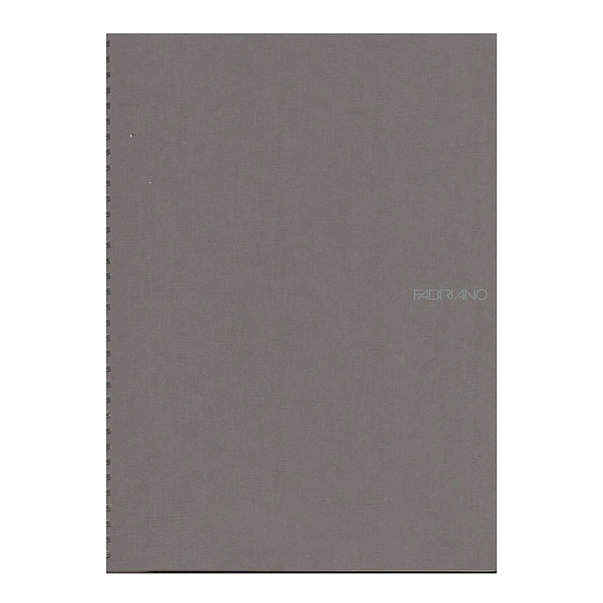 "Fabriano EcoQua Wire Bound Blank 8""x11"" Notebook Stone"