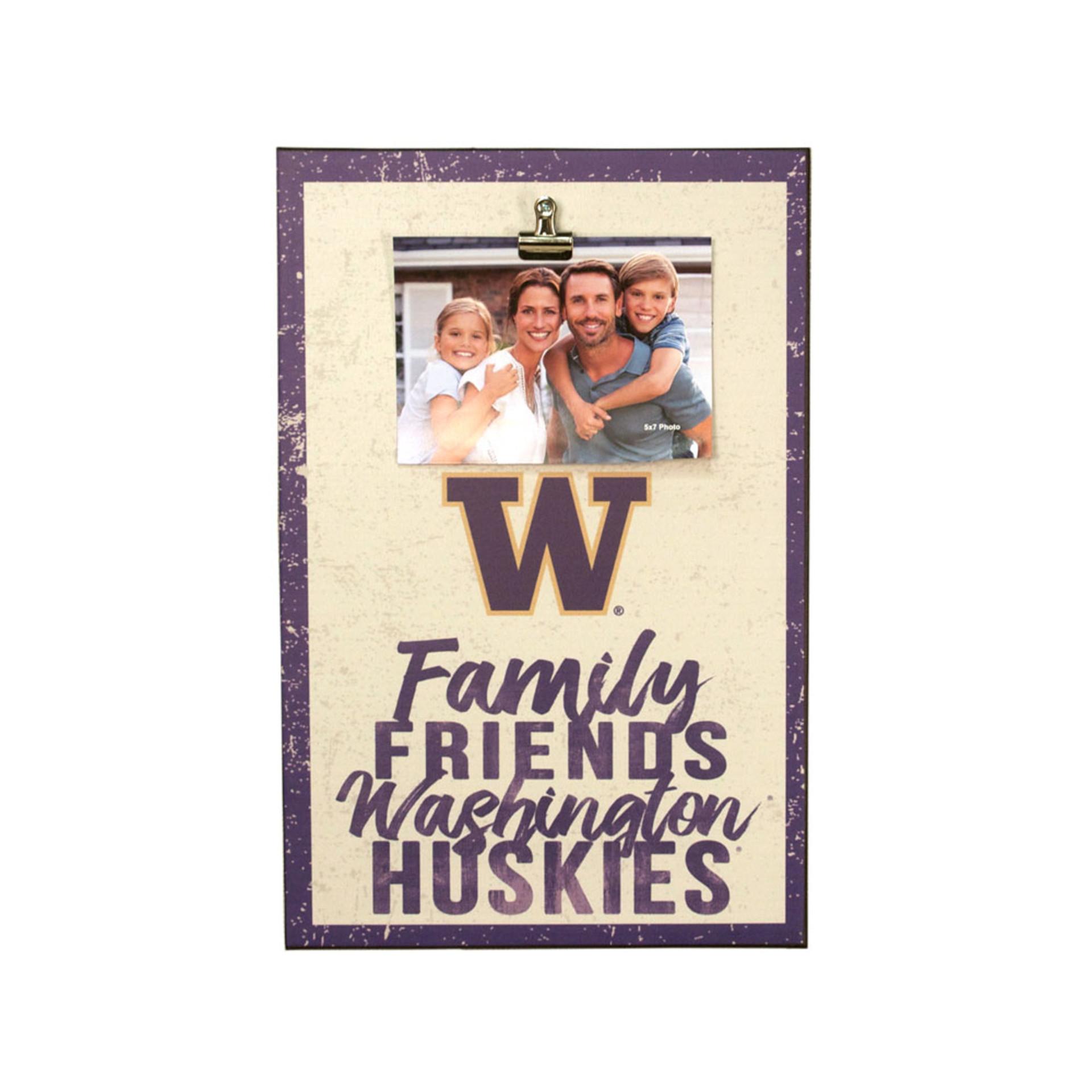 Family Friends Washington Huskies Canvas Clip 12x18
