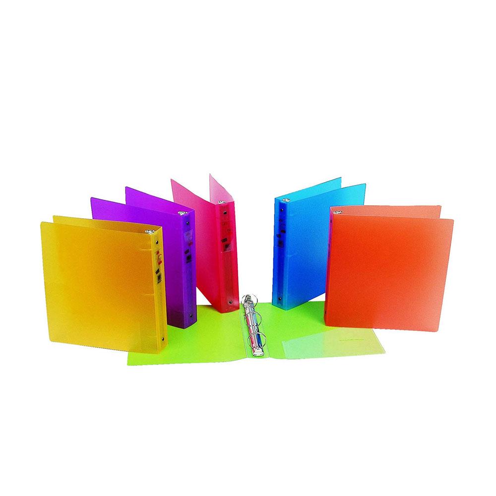 """Filexec Glow 1.5"""" O 3-Ring 4 Pocket Poly Binder"""