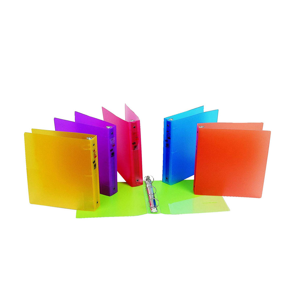 "Filexec Glow 1.5"" O 3-Ring 4 Pocket Poly Binder"