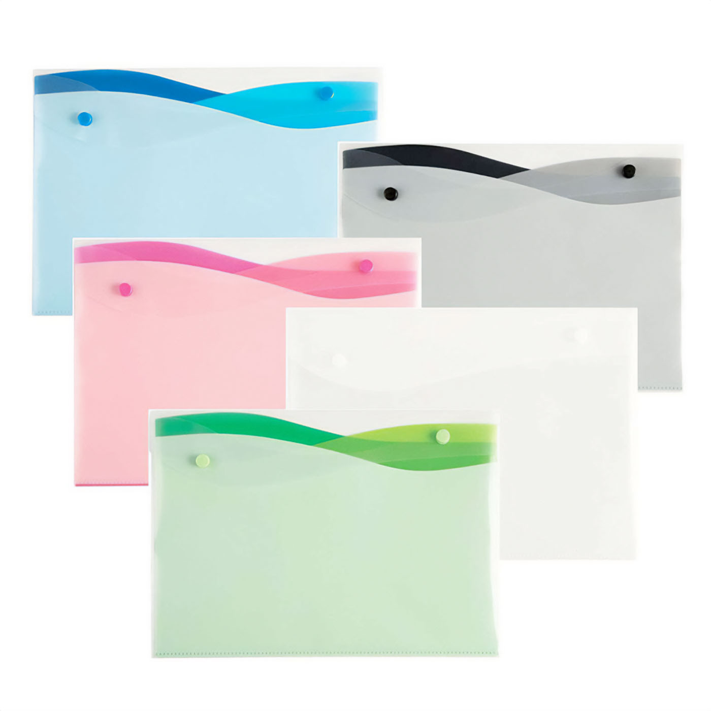 Filexec Wave Four Pocket Letter Size Poly Envelope