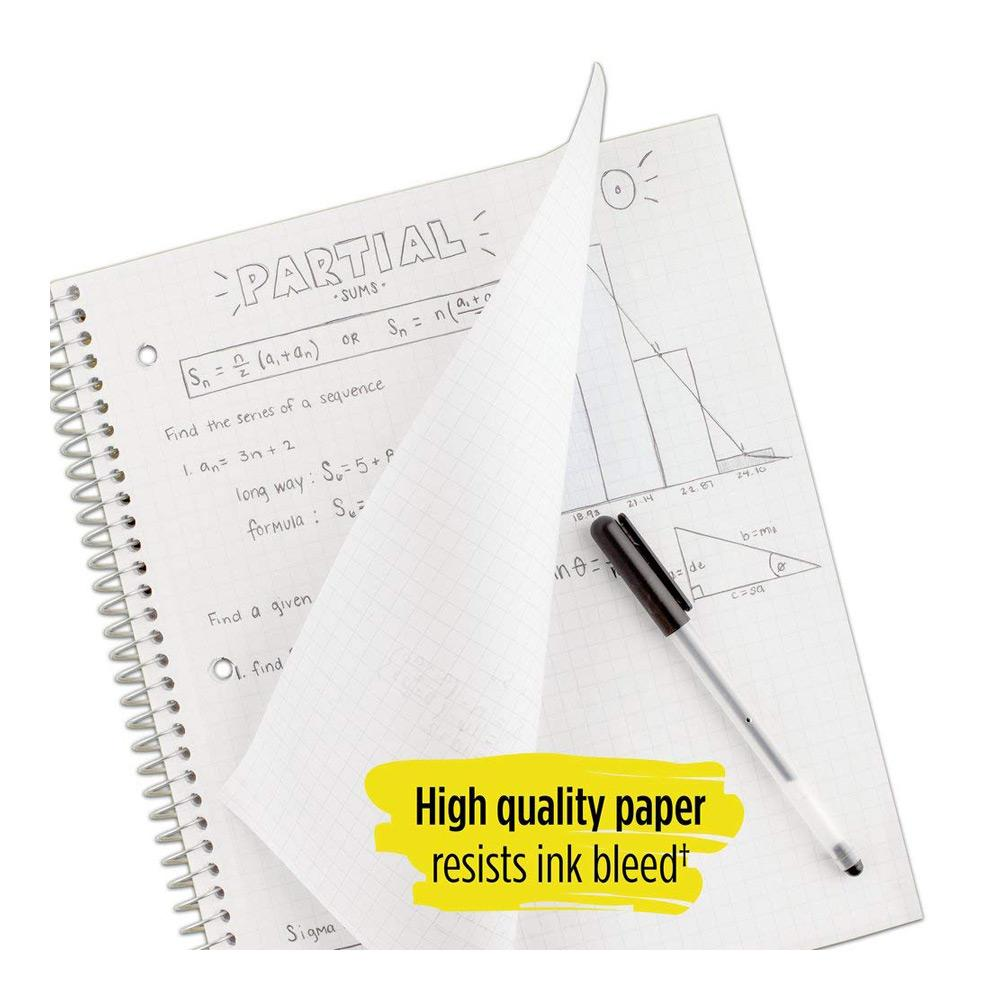 Five Star Quad Spiral Notebook Paper