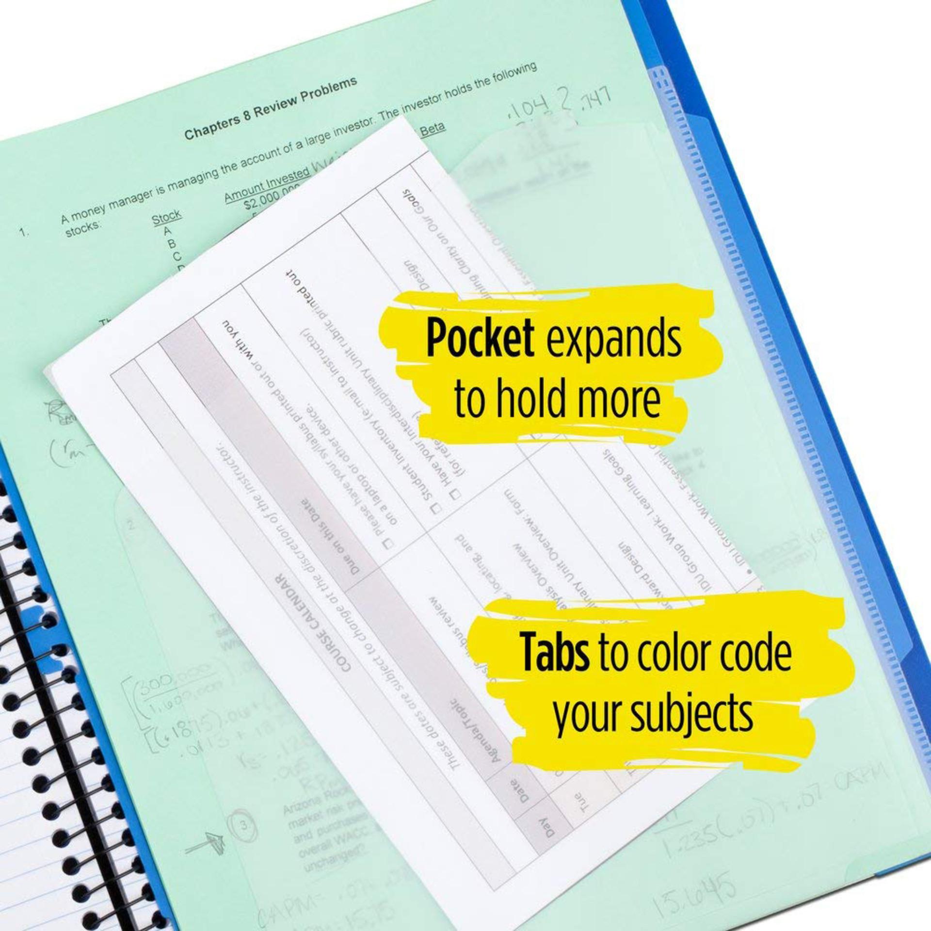 Five Star Advance College Spiral Notebook Pocket