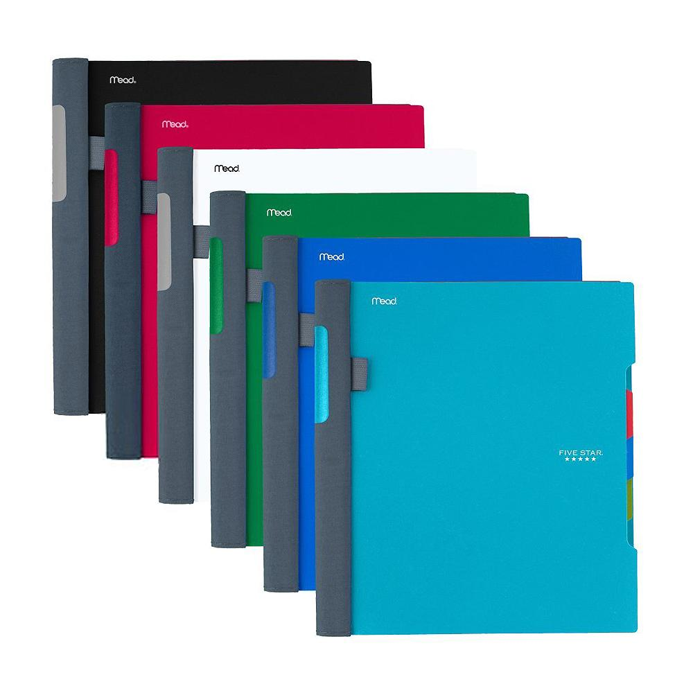 Five Star Assorted Advanced 3 Subject College Spiral Notebook
