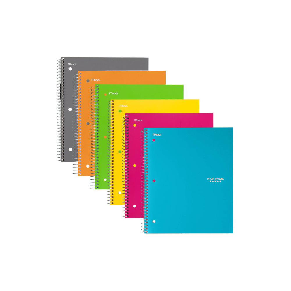 Five Star Trend Assorted 3 Subject College Spiral Notebook