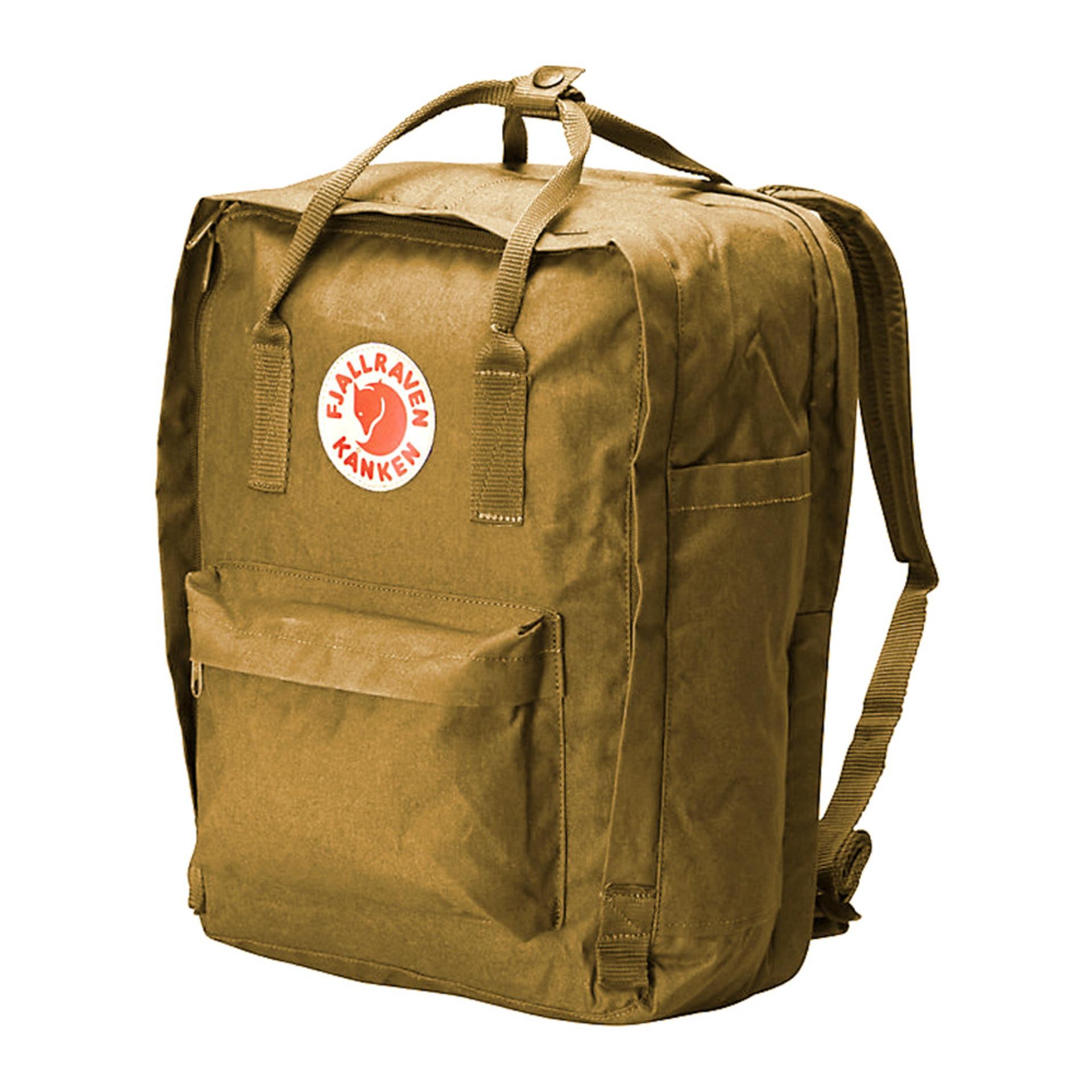"Fjall-Raven Kanken Backpack 15"" Acorn Side"