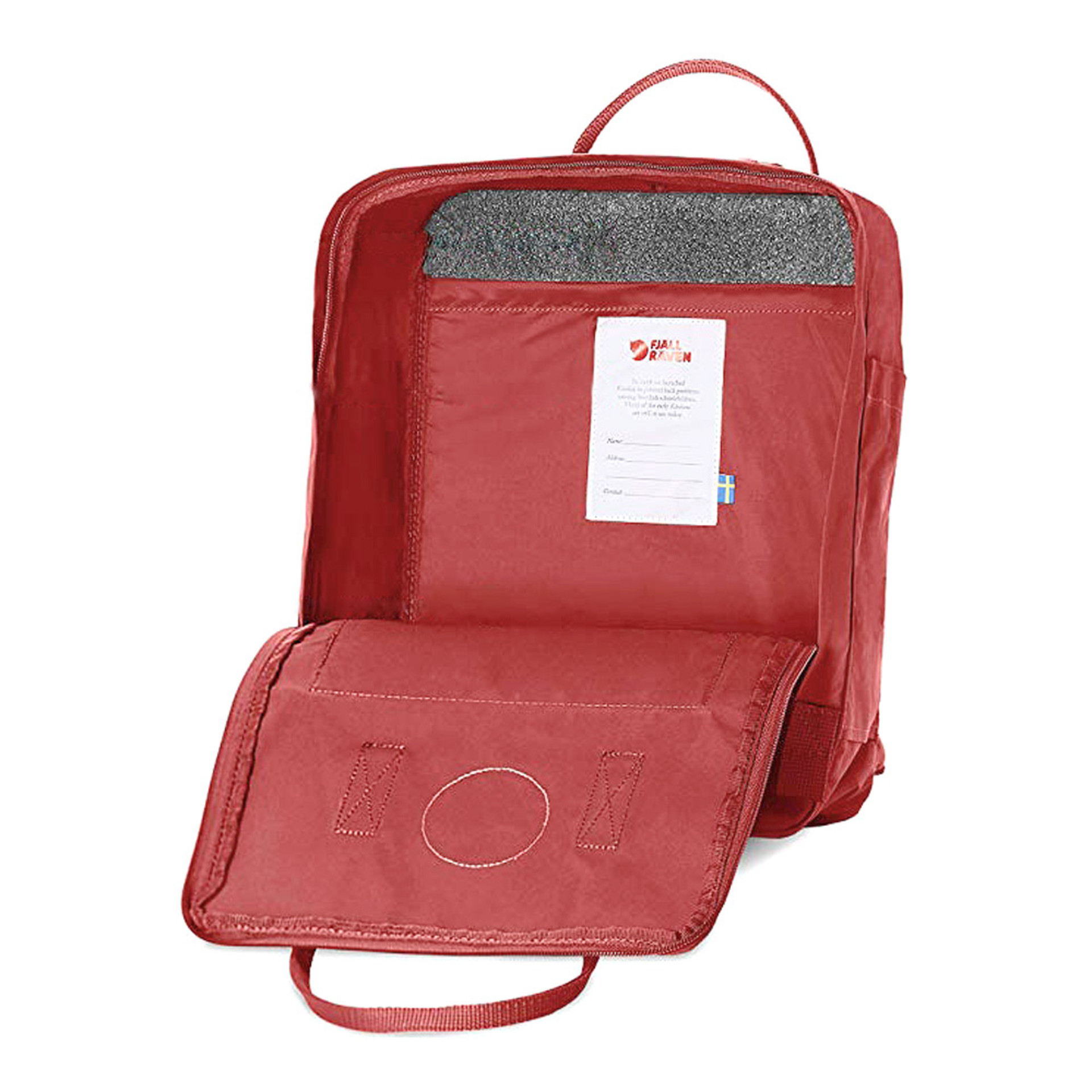 Fjall-Raven Kanken Autumn Leaf Backpack Open
