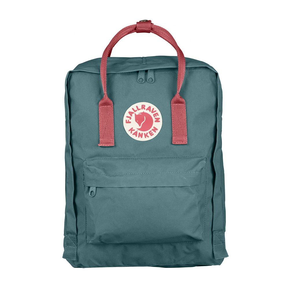 Fjall-Raven Kanken Frost Green-Peach Pink Backpack