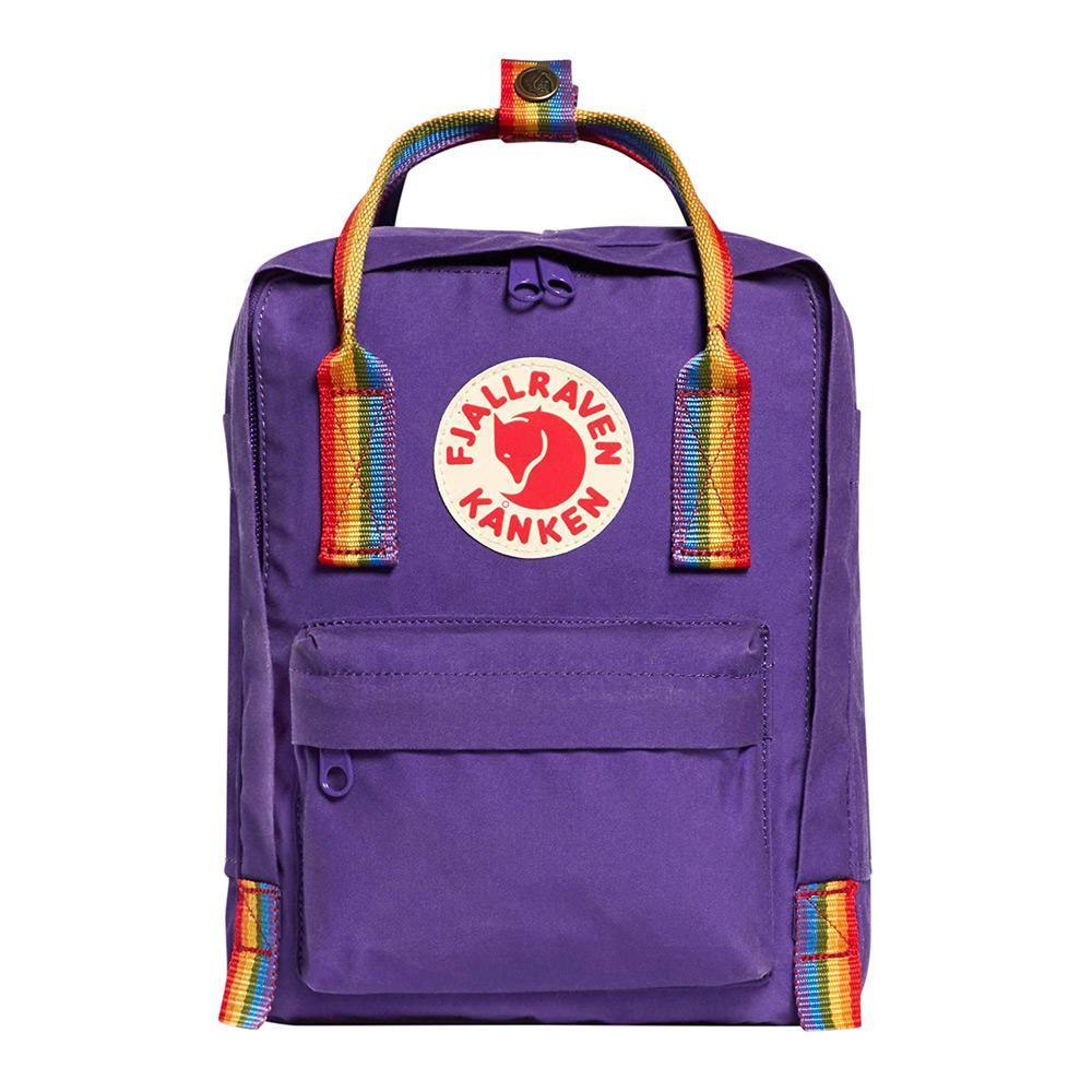 Fjall-Raven Kanken Mini Purple/Rainbow Pattern Backpack