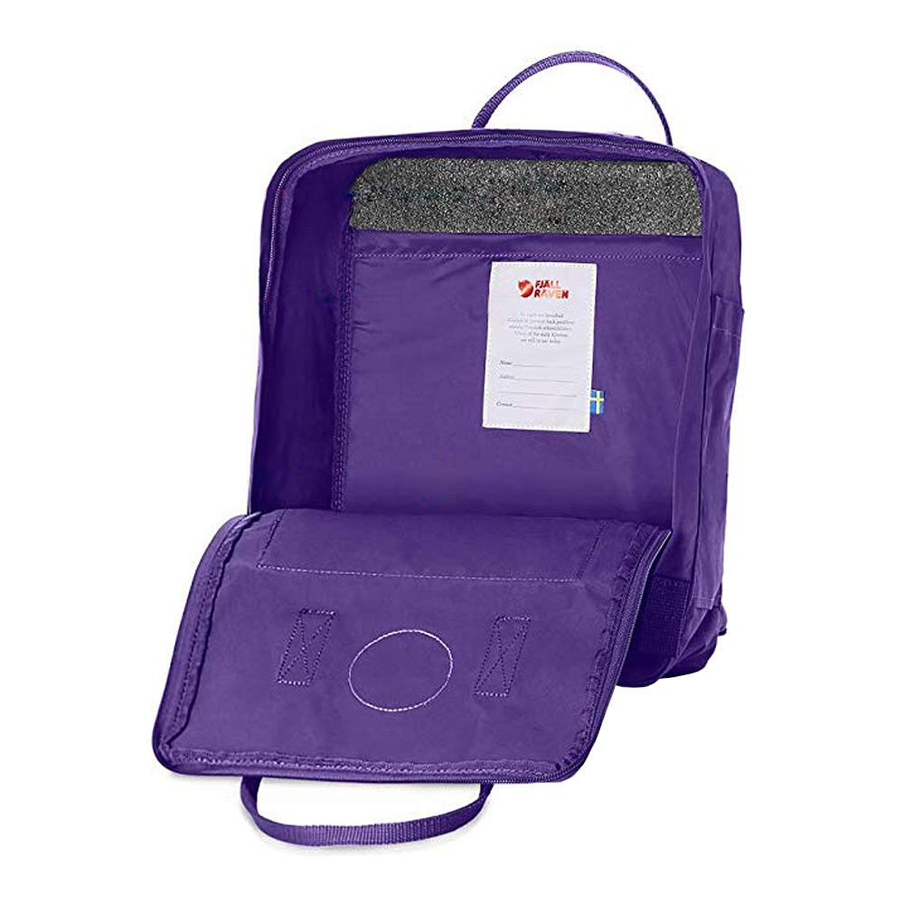 Fjallraven Kanken Backpack Purple Open