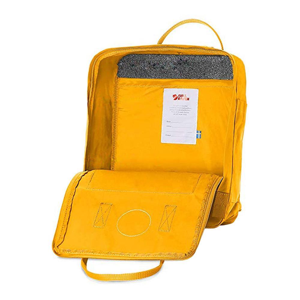 Fjallraven Kanken Backpack Warm Yellow Open