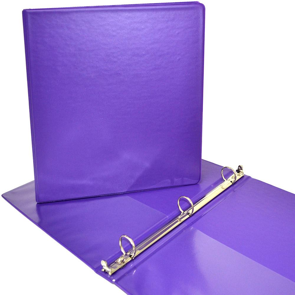 """Four Point 1.5"""" D 3-Ring View Binder Purple"""
