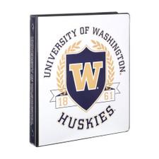 "Four Point UW Huskies Shield 1"" 3 O Ring Binder"