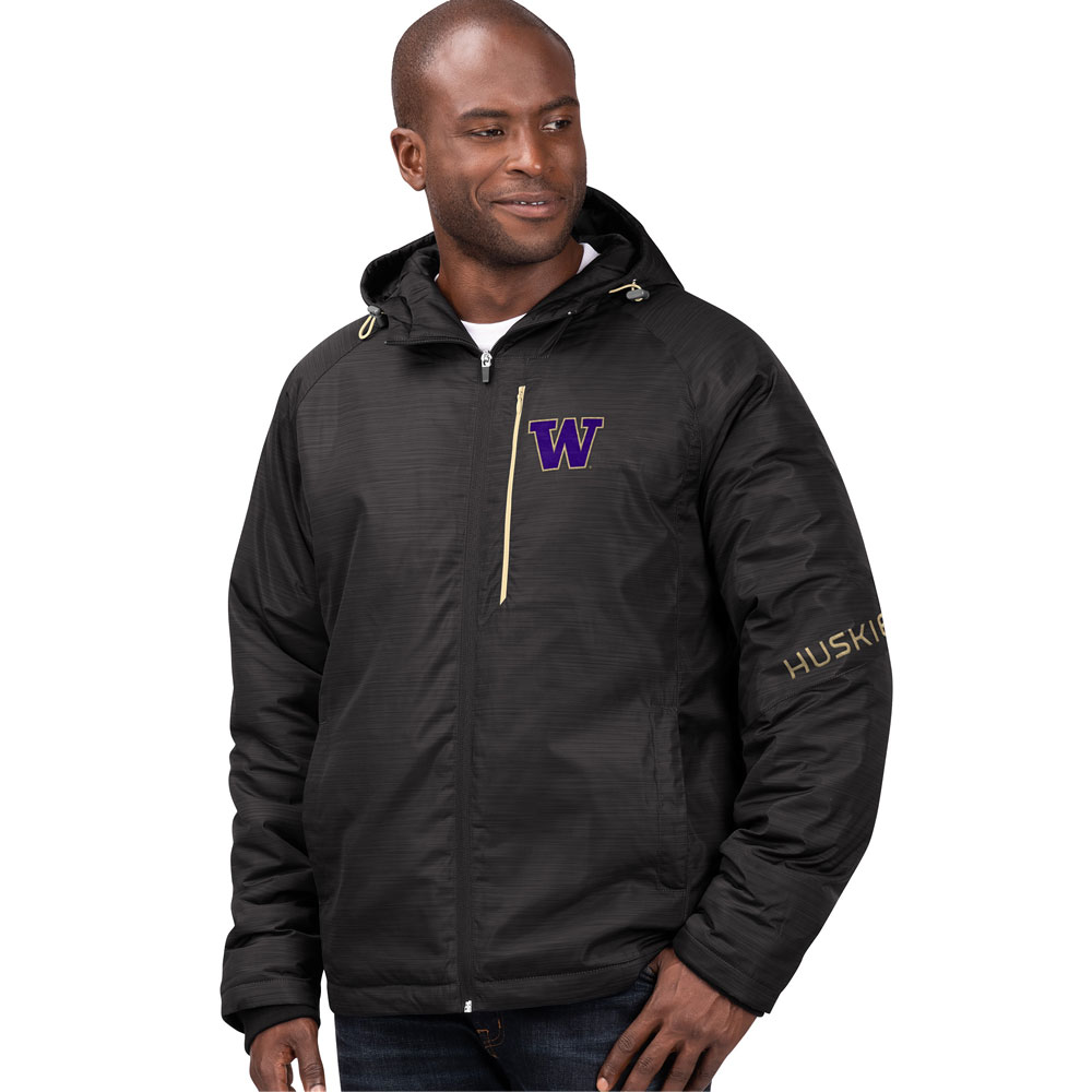 G-III Men's W Huskies Storm Hooded Parka Jacket