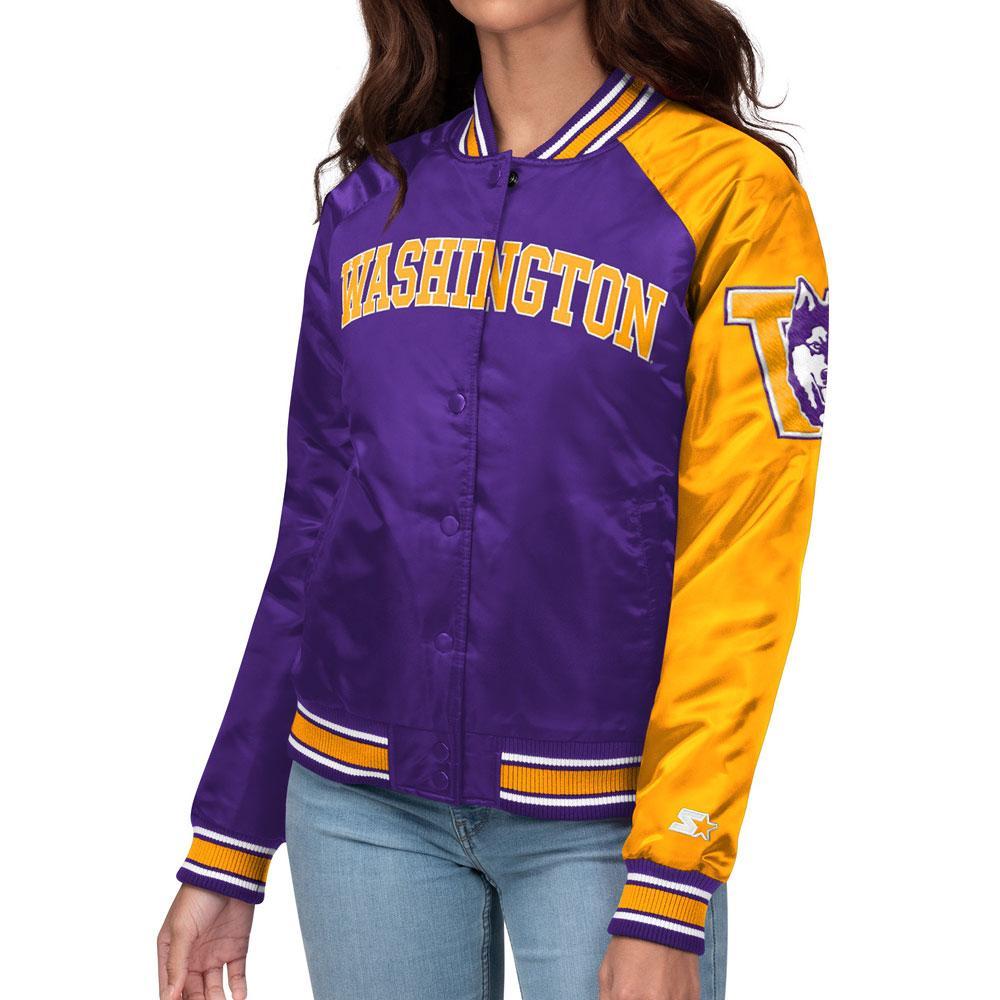 Starter Women's Split Color Vault Dog Washington Jacket – Front