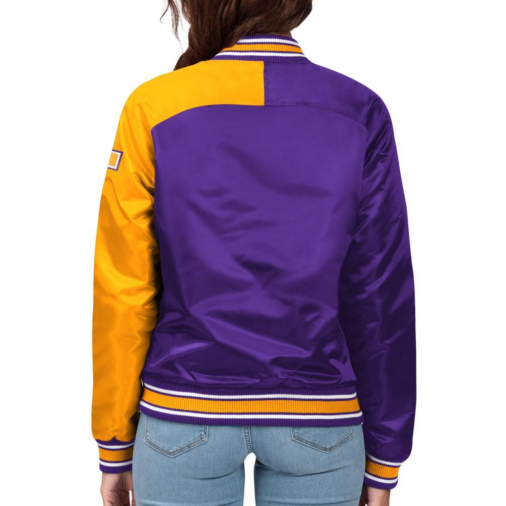 Starter Women's Split Color Vault Dog Washington Jacket – Back