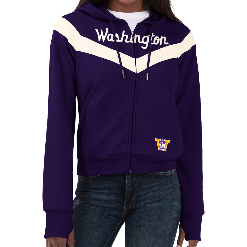 GIII Women's Washington Vault Dog W Full-zip – Purple