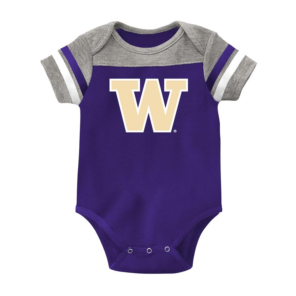 Gen2 Baby W Football Stripes Bodysuit