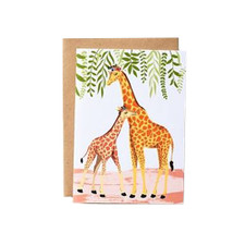 Giraffes Mother's Day Greeting Card