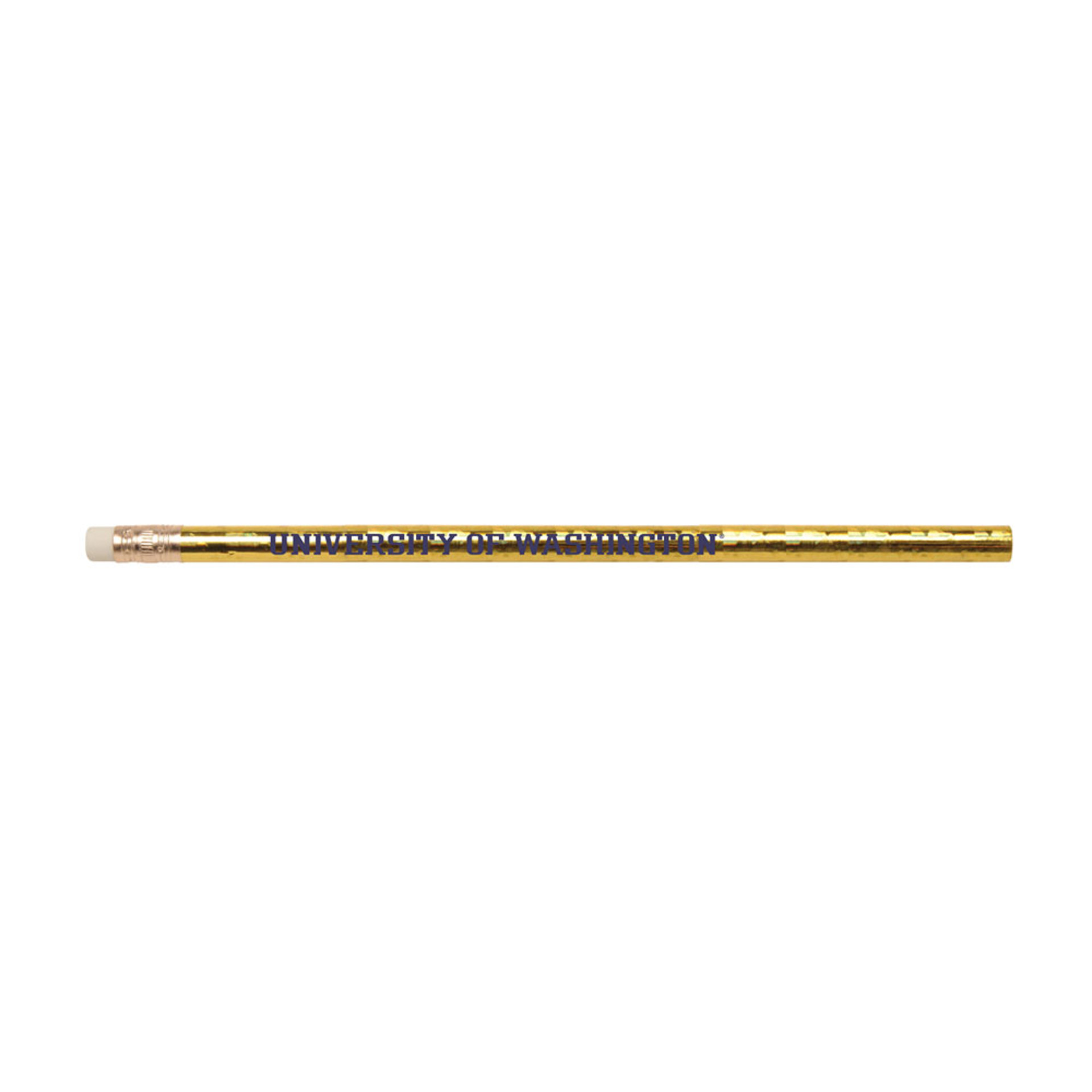 Gold Prismatic Foil U of W Pencil