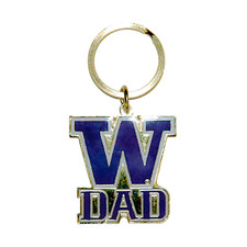 UW Dad Keychain Gold Purple