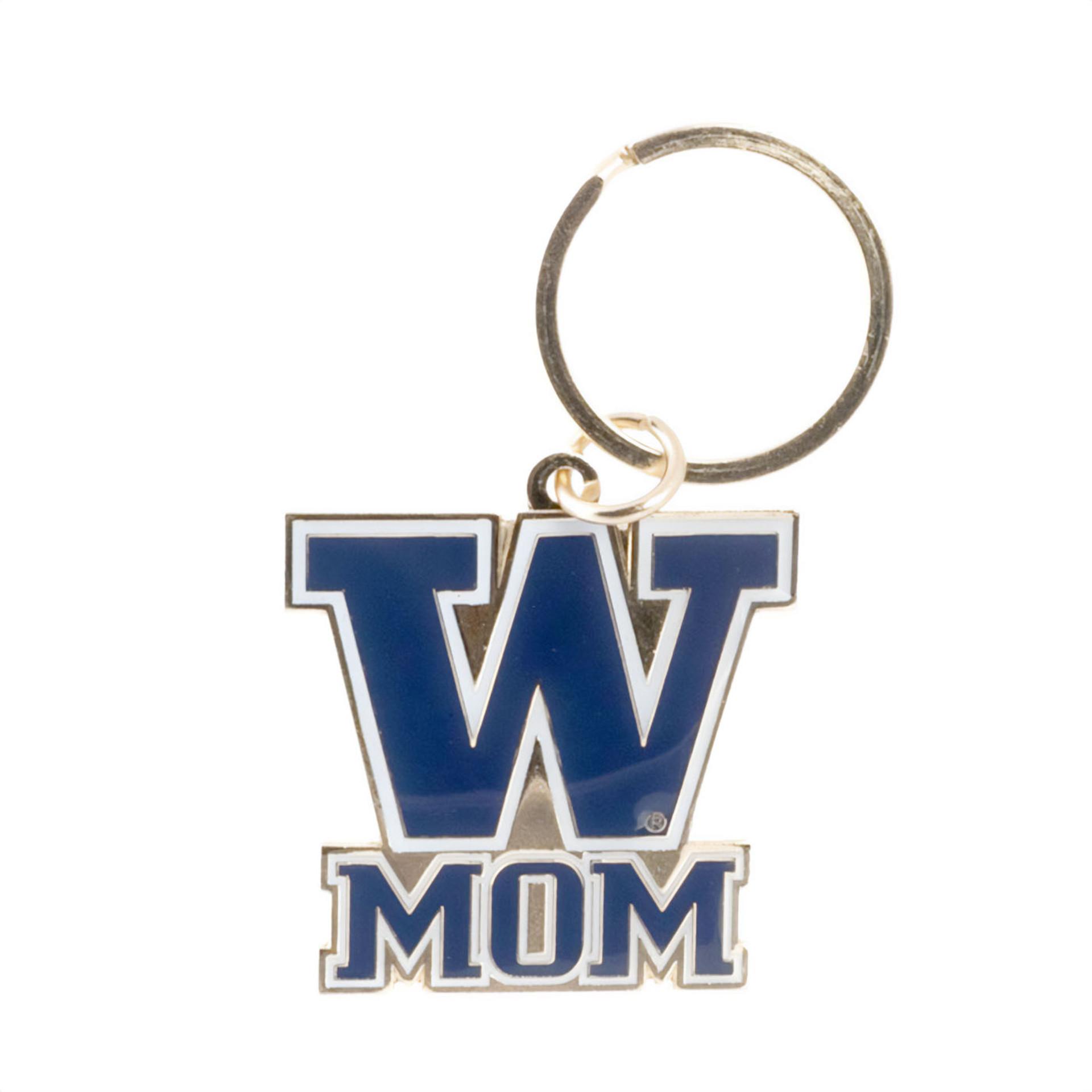 UW Mom Keychain Gold Purple