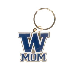 UW Mom Keychain Gold Purple
