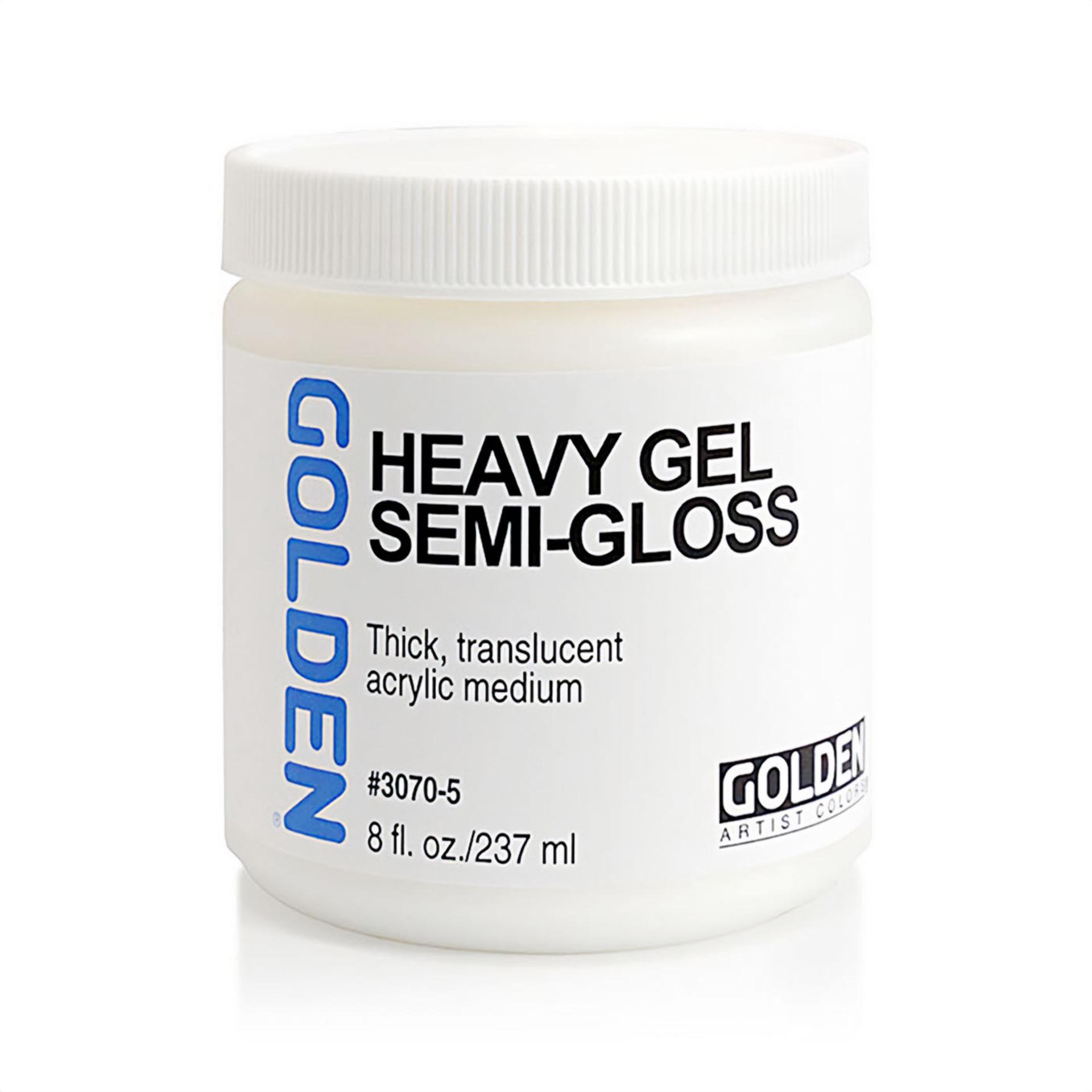 Golden Artist 8oz Heavy Gel Semi-Gloss