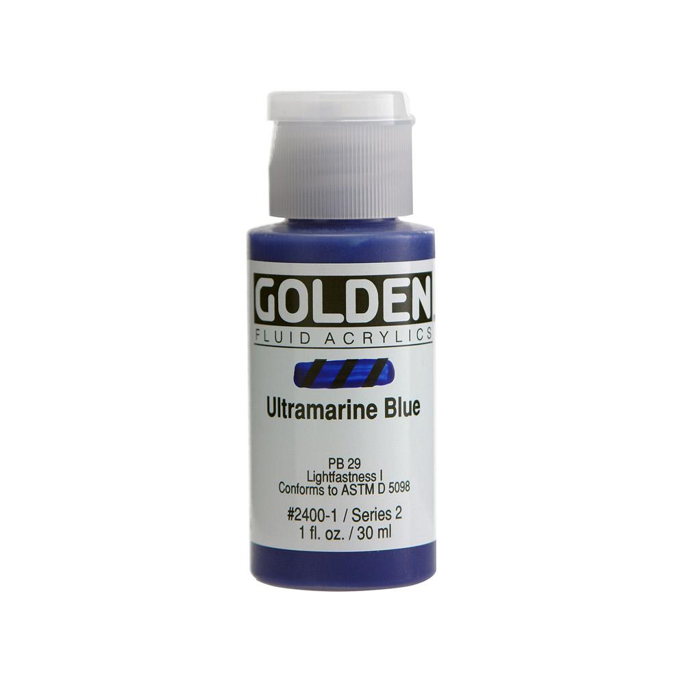 Golden Fluid Acrylic Paint Ultramarine Blue