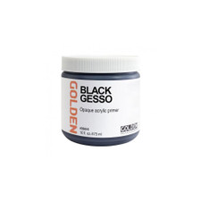 Golden Black Acrylic Gesso Jar