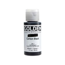 Golden Fluid Acrylic Bottle – Carbon Black
