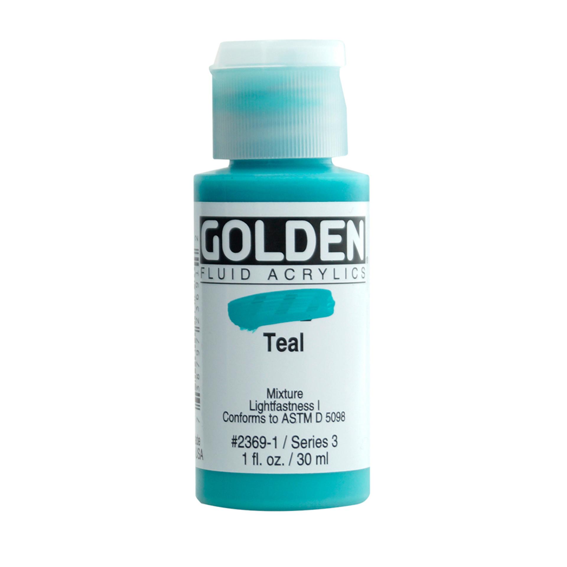 Golden Fluid Acrylic Bottle – Teal