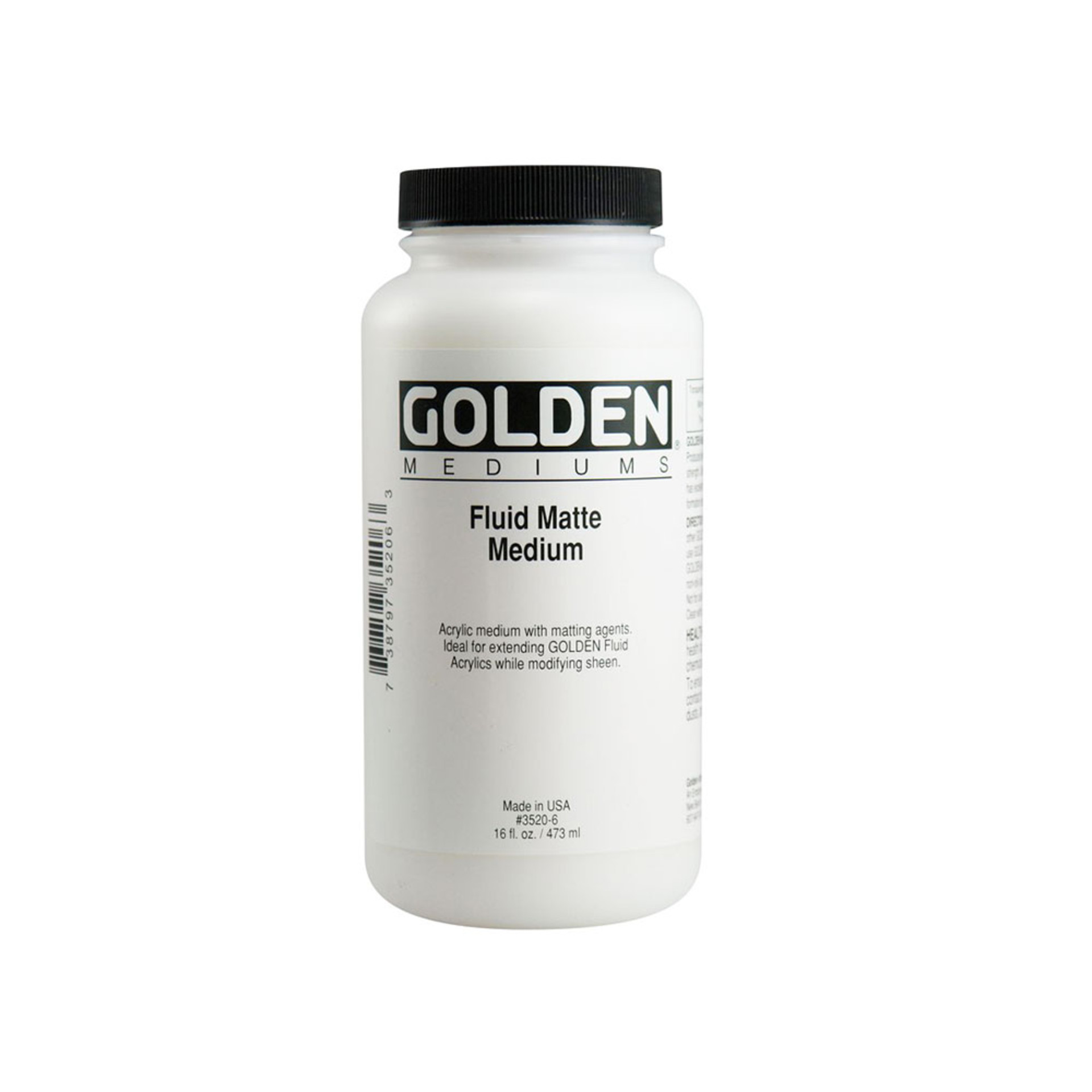 Golden Fluid Matte Medium 16oz