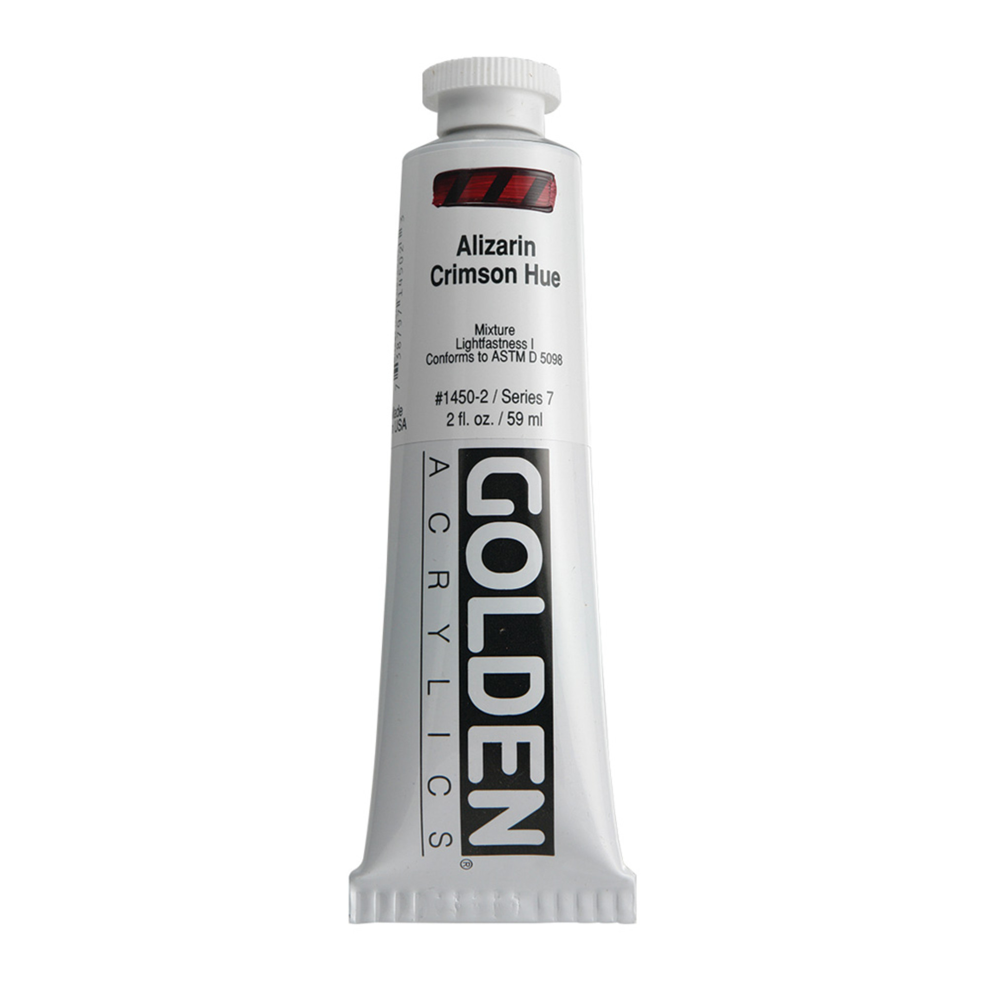 Golden Heavy Body Acrylic Tube 2oz Alizarin Crimson Hue
