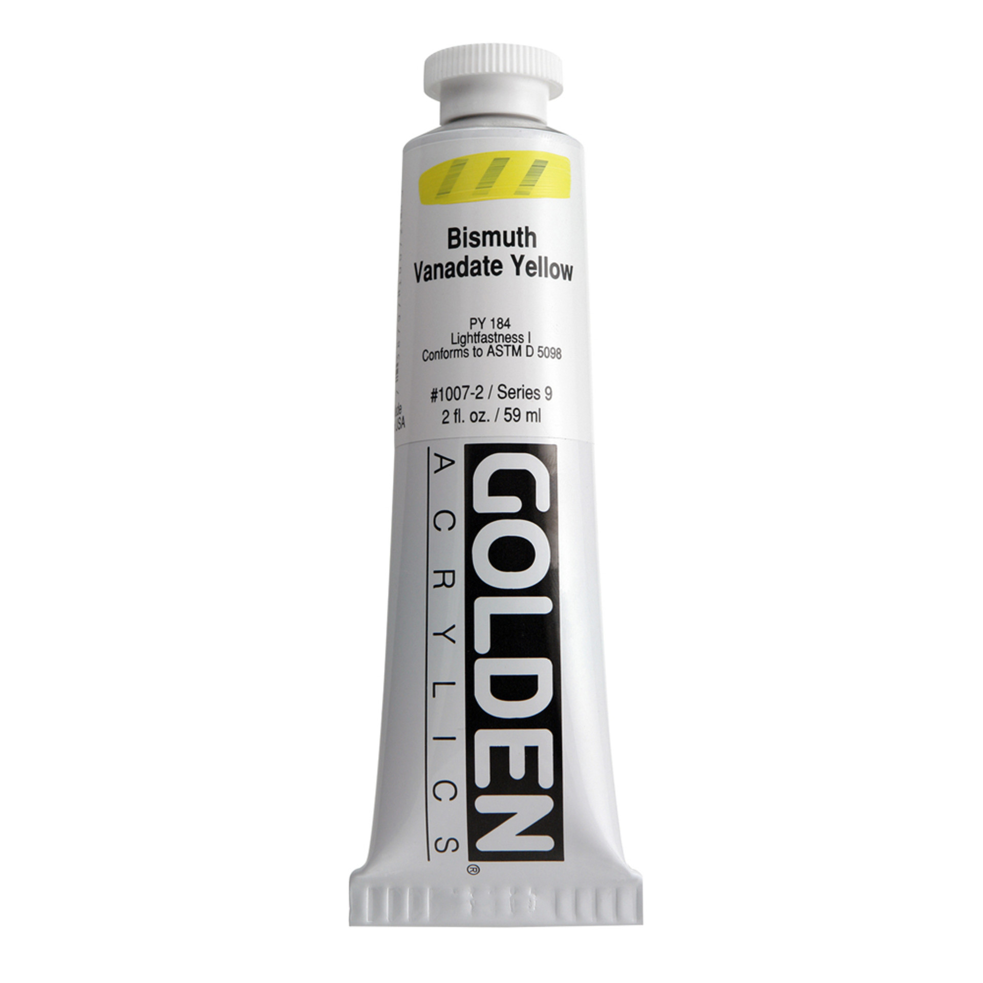Golden Heavy Body Acrylic Tube 2oz Bismuth Vanadate Yellow