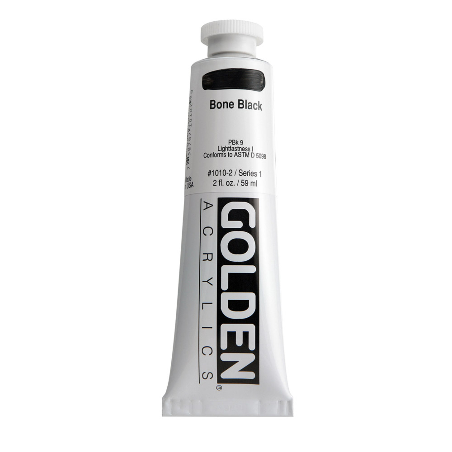 Golden Heavy Body Acrylic Tube 2oz Brown Black