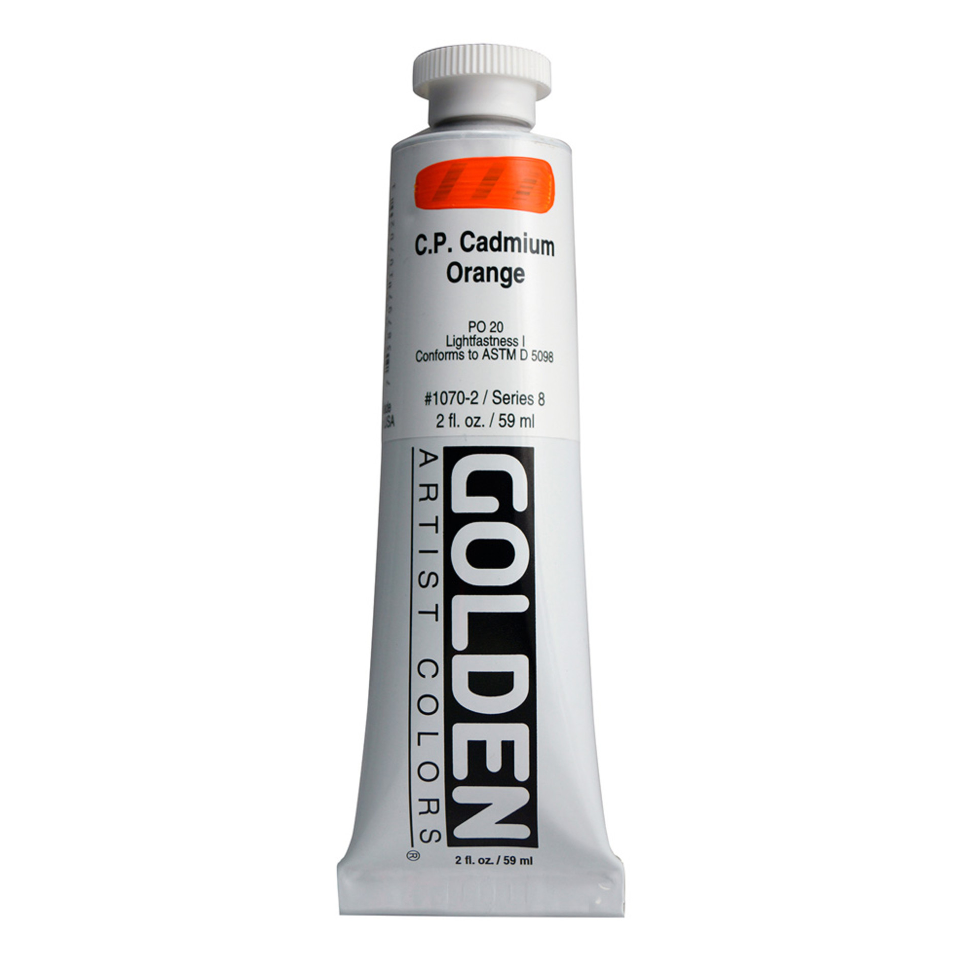 Golden Heavy Body Acrylic Tube 2oz Cadmium Orange