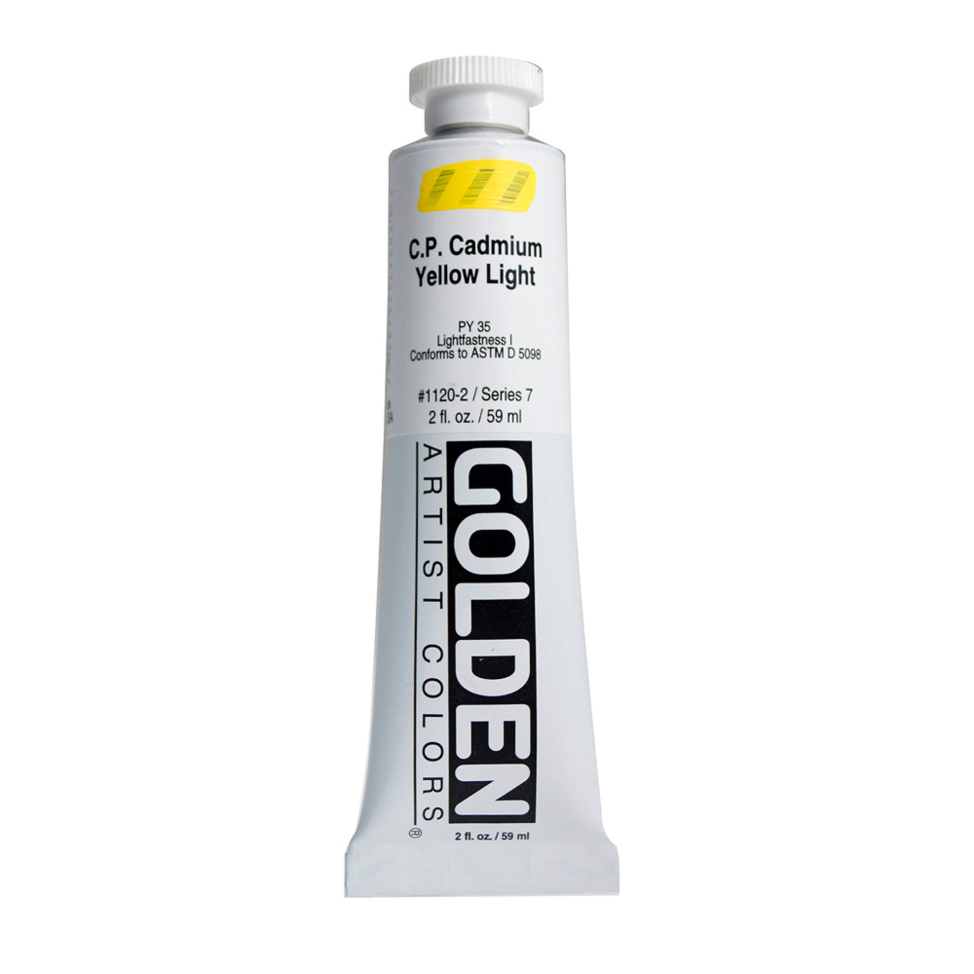 Golden Heavy Body Acrylic Tube 2oz Cadmium Yellow Light