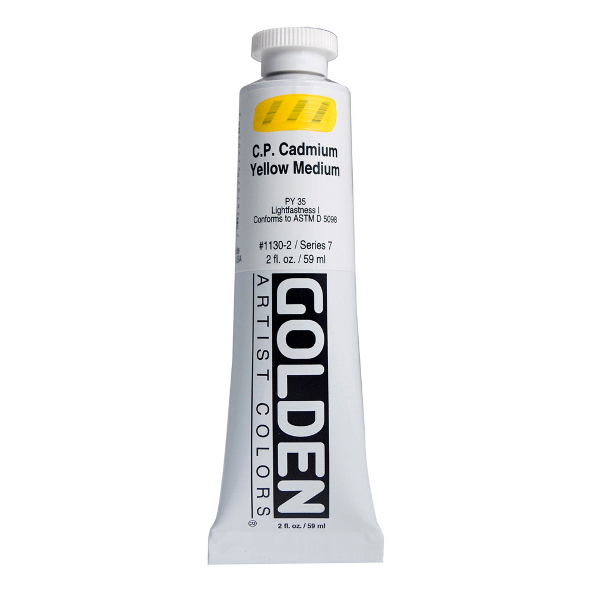 Golden Heavy Body Acrylic Tube 2oz Cadmium Yellow Medium