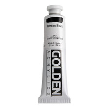 Golden Heavy Body Acrylic Tube 2oz Carbon Black