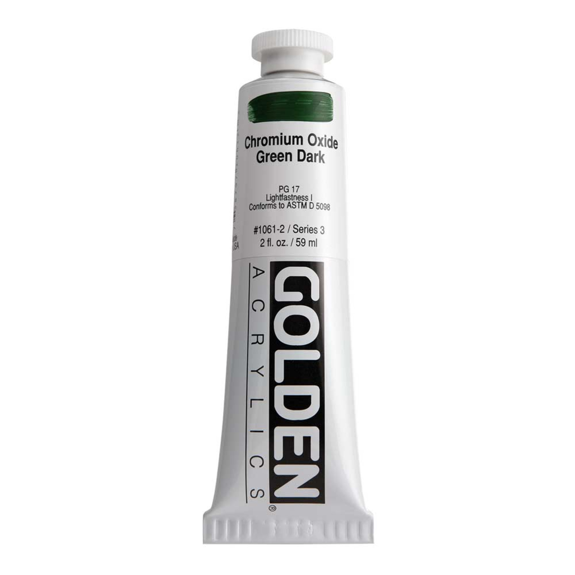 Golden Heavy Body Acrylic Tube 2oz Chrome Oxide Green Dark