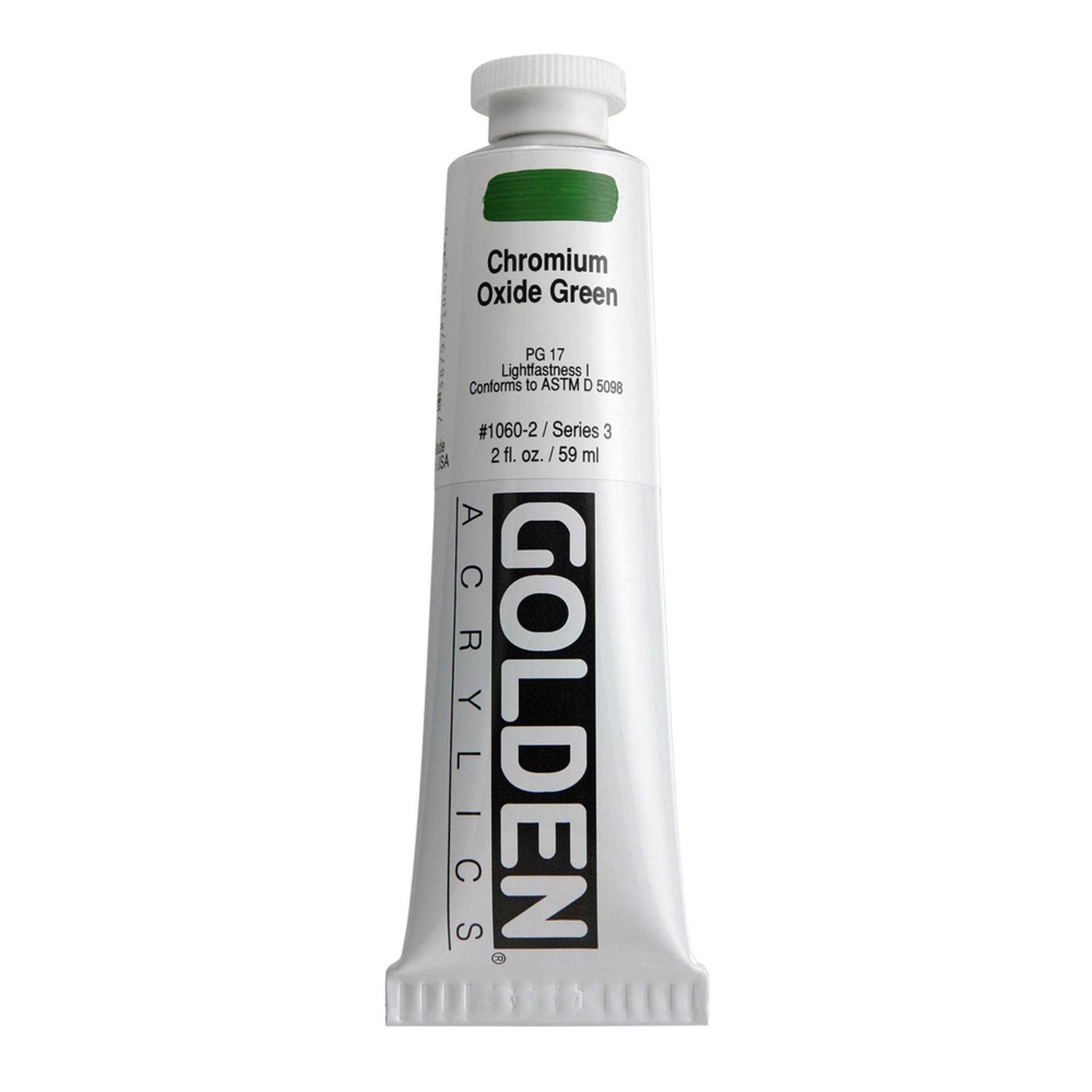 Golden Heavy Body Acrylic Tube 2oz Chrome Oxide Green