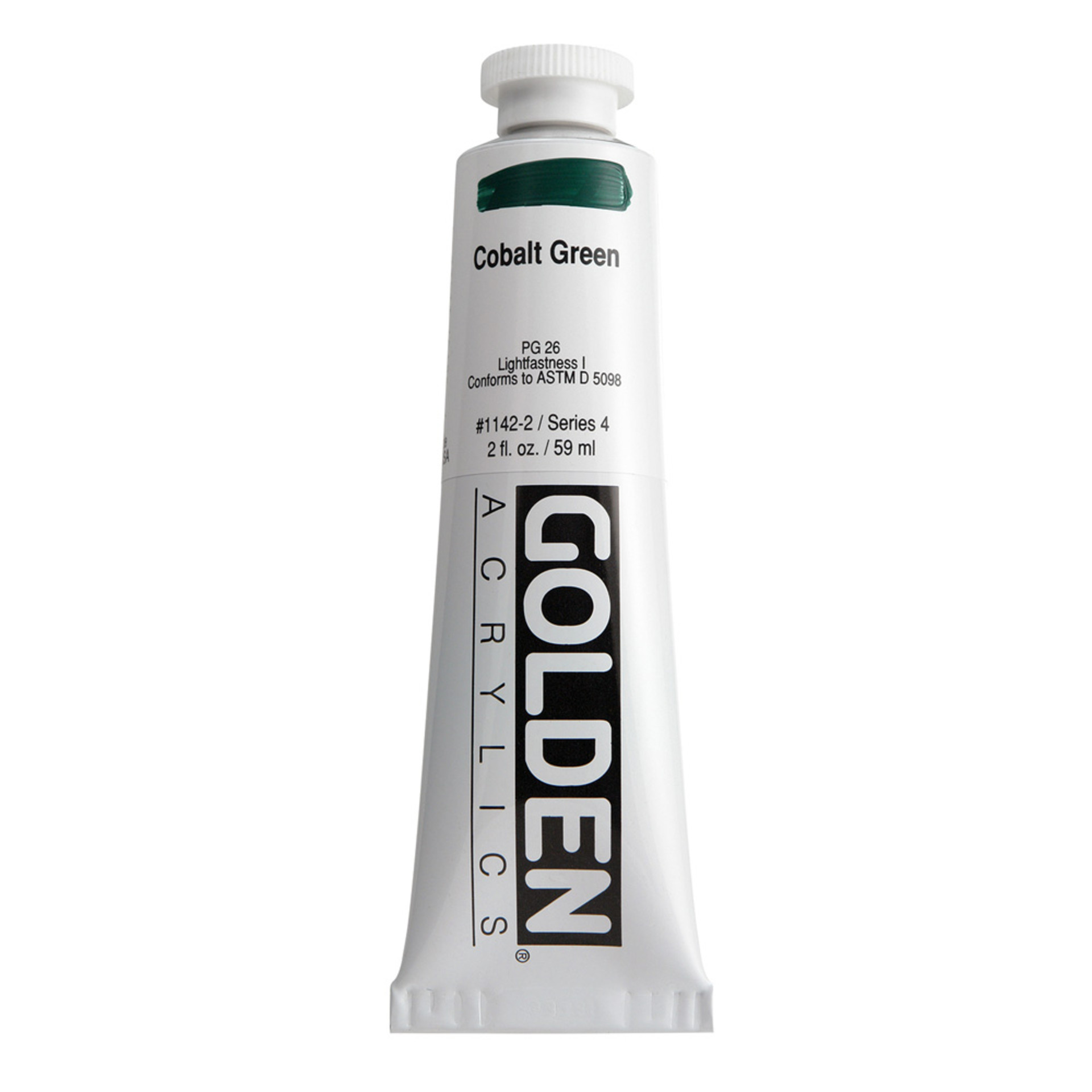Golden Heavy Body Acrylic Tube 2oz Cobalt Green