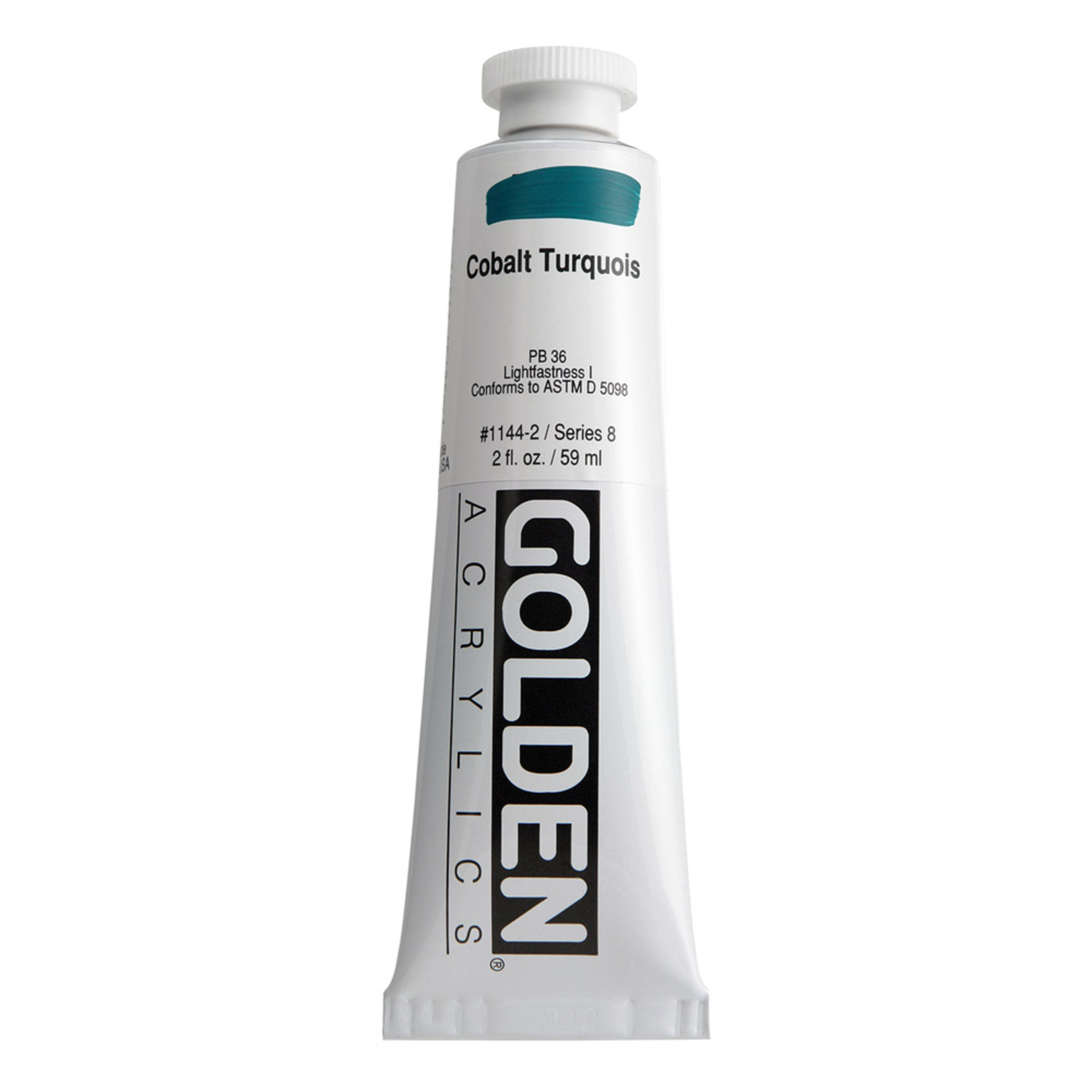 Golden Heavy Body Acrylic Tube 2oz Cobalt Turquoise