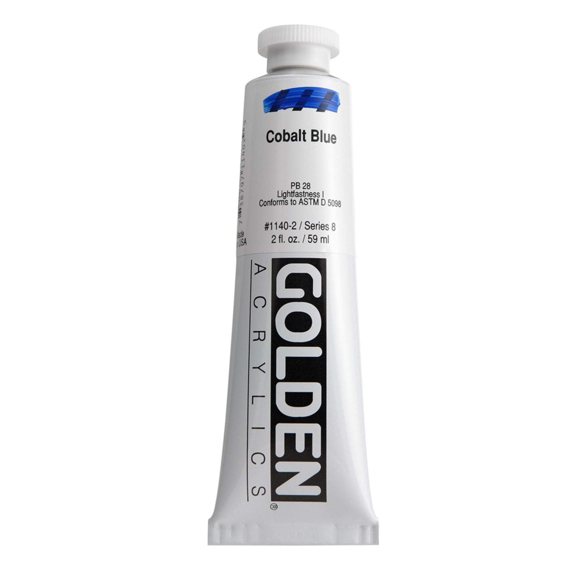 Golden Heavy Body Acrylic Tube 2oz Cobalt Blue