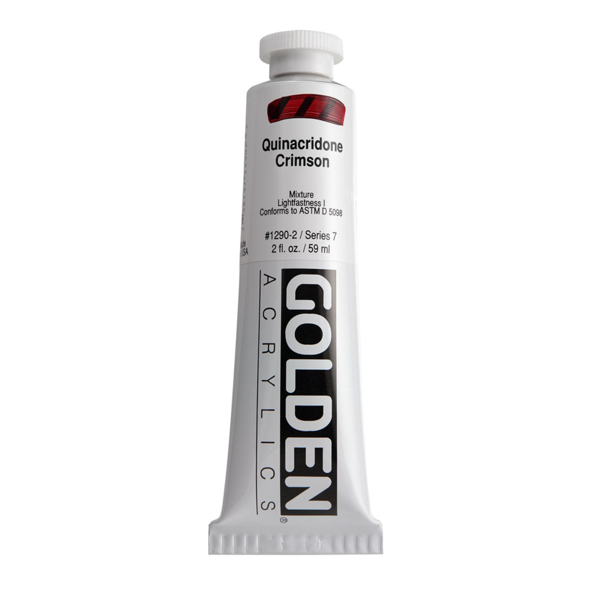 Golden Heavy Body Acrylic Tube 2oz Crimson