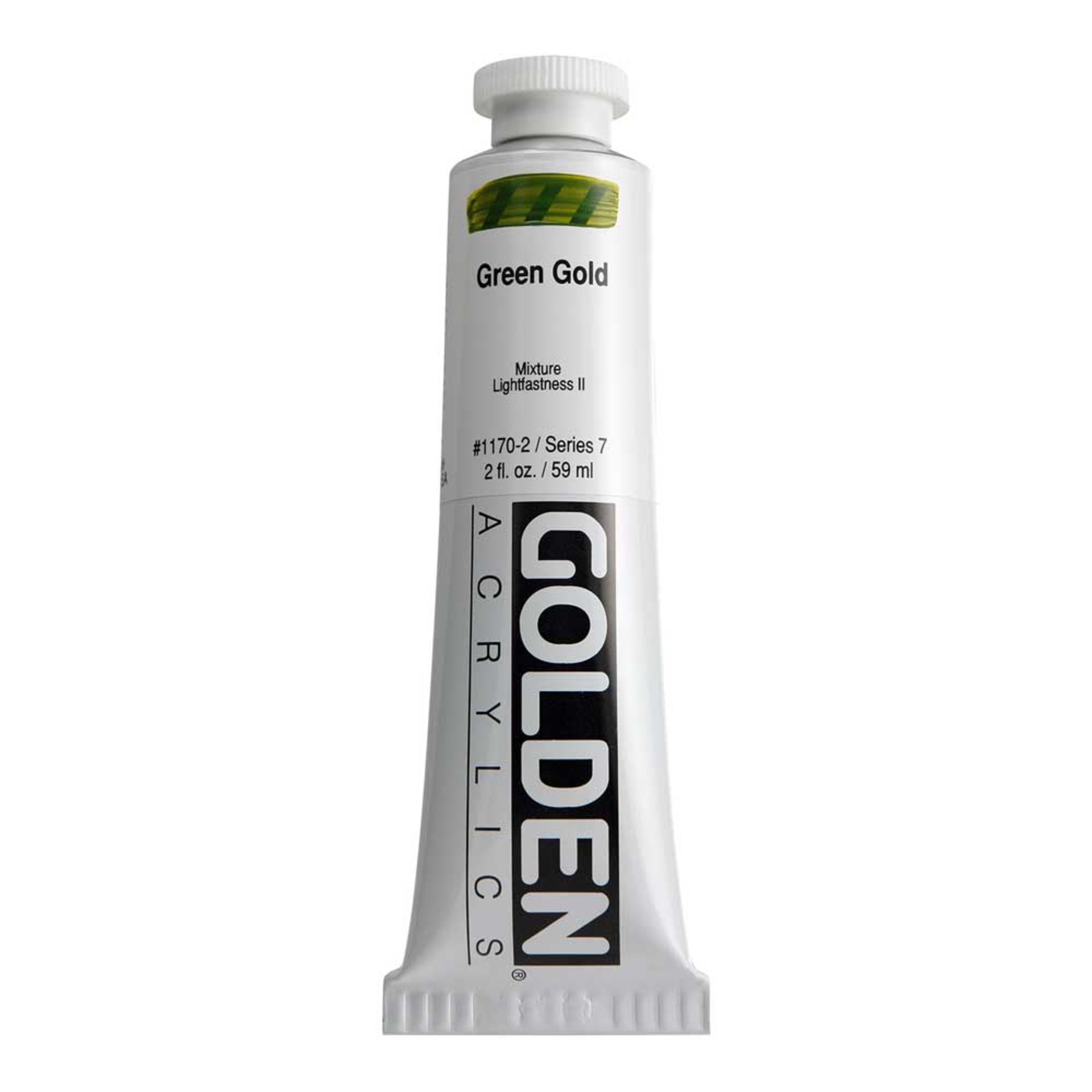 Golden Heavy Body Acrylic Tube 2oz Green Gold