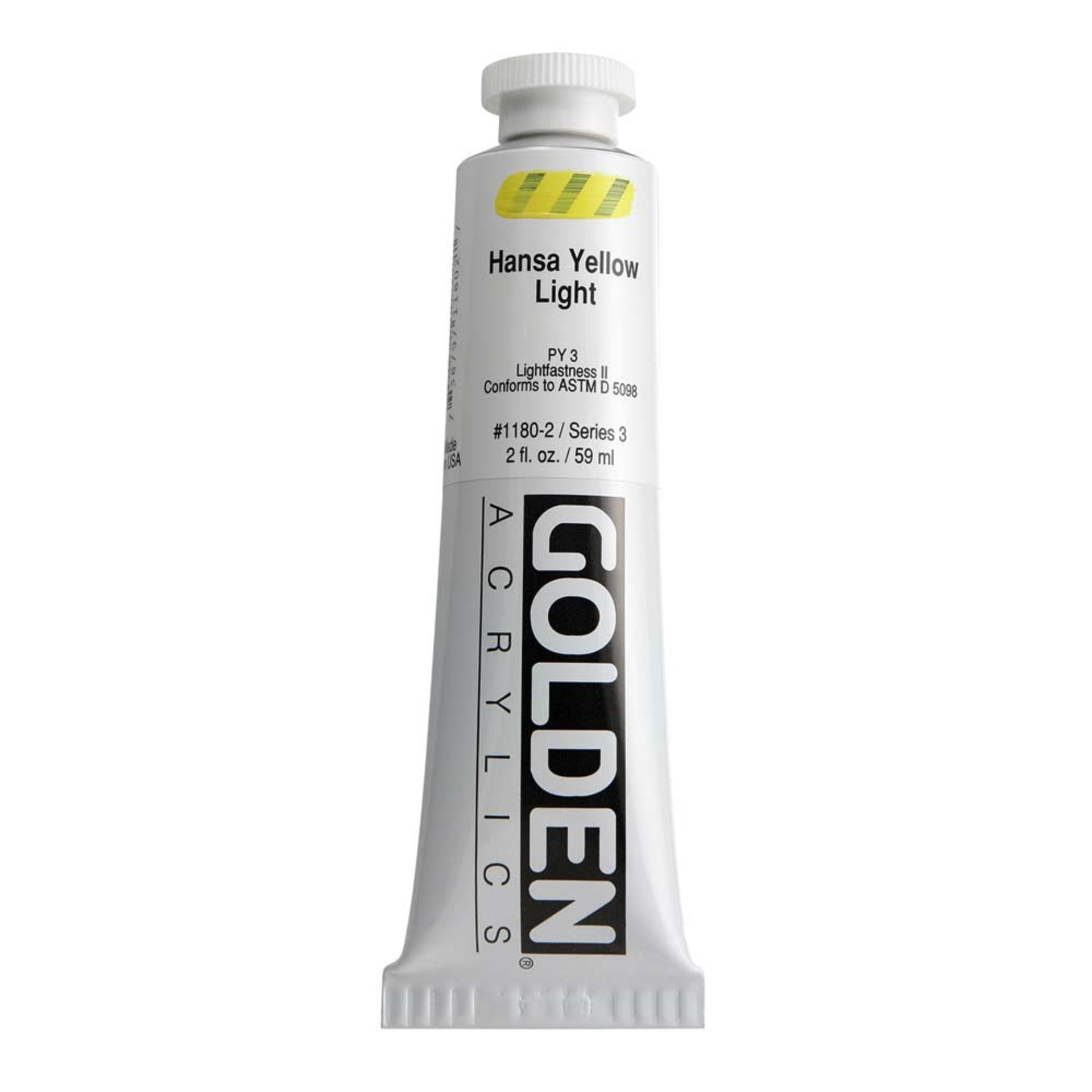 Golden Heavy Body Acrylic Tube 2oz Hansa Yellow Light