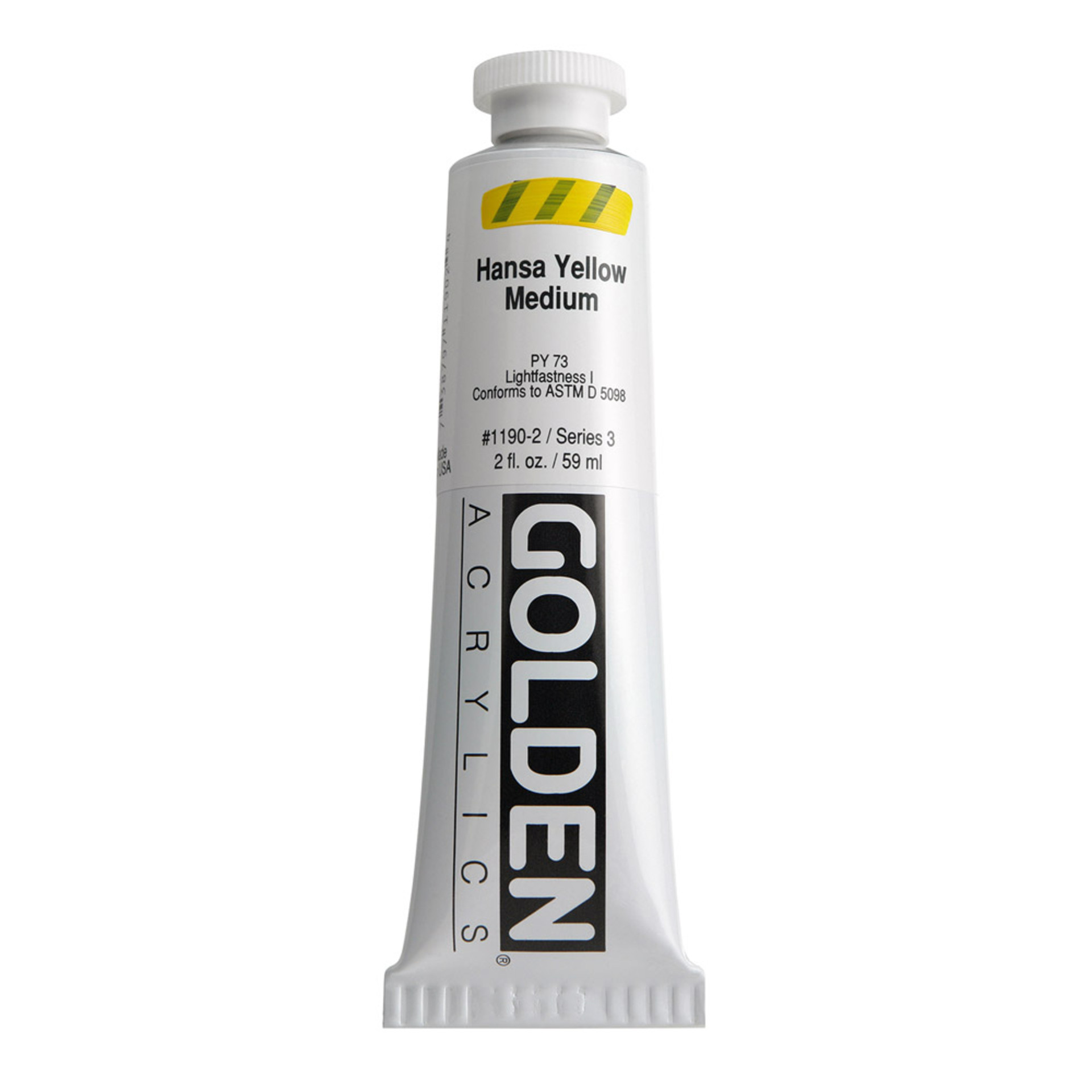 Golden Heavy Body Acrylic Tube 2oz Hansa Yellow Medium
