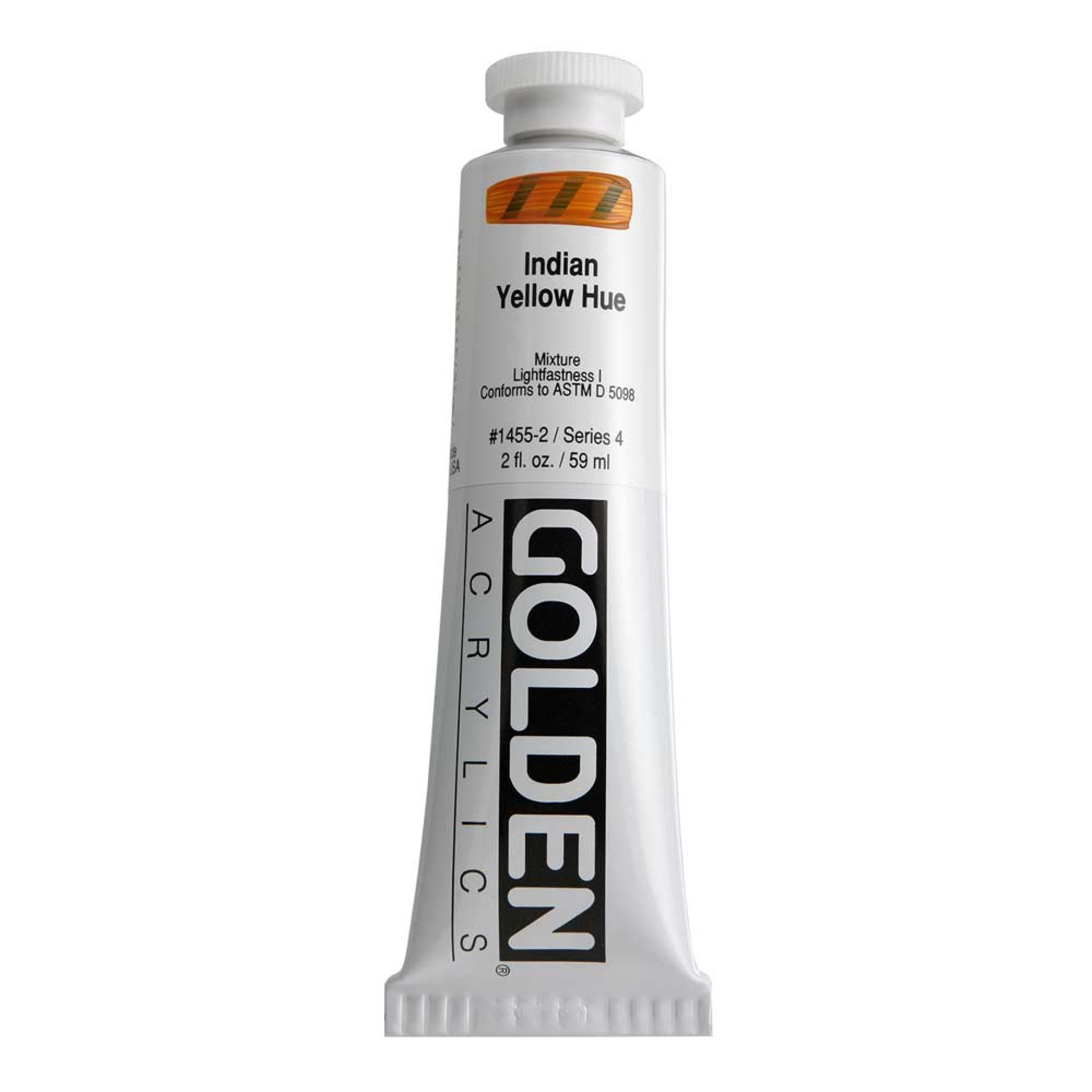 Golden Heavy Body Acrylic Tube 2oz Indian Yellow Hue